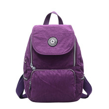 Backpacks Women Casual Rucksack Nylon School Shoulder Bag Waterproof Backpack for Teenage Girls Black Student Back pack Lady