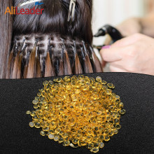 Alileader haute qualité italien kératine colle grain jaune Transparent blanc chaud fusion perles kératine colle pour Extension de cheveux
