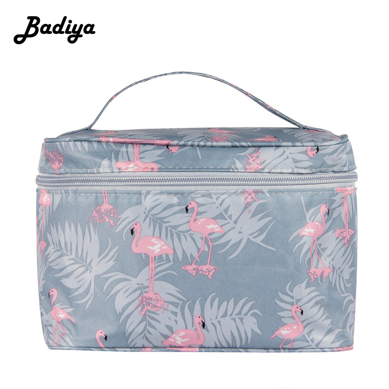 2020 New Printing Cosmetic Bag Lady Necessaire Travel Organizer Make Up Box Toiletry Kit Wash Toilet Bag Large Waterproof Pouch