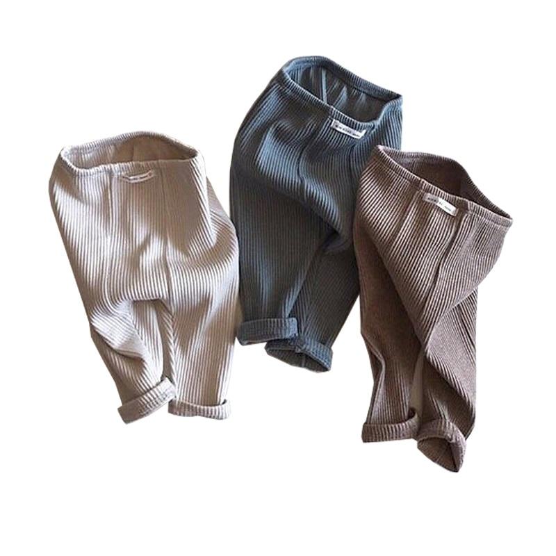 6~24M Baby Girl  Ribbed Big PP Pants Babies Boy Leggings Bebe  Pantalones Elastic Cotton Comfortable Trousers For The Kids