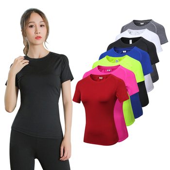 2019 Yoga Tops Sport Shirt Women Fitness Gym Top Yoga Running T-shirts Female Sports Top Quick Dry Workout Tops For Women fitness women top yoga shirts female sport gym top sport shirt women top yoga tank top fitness women clothing t shirt