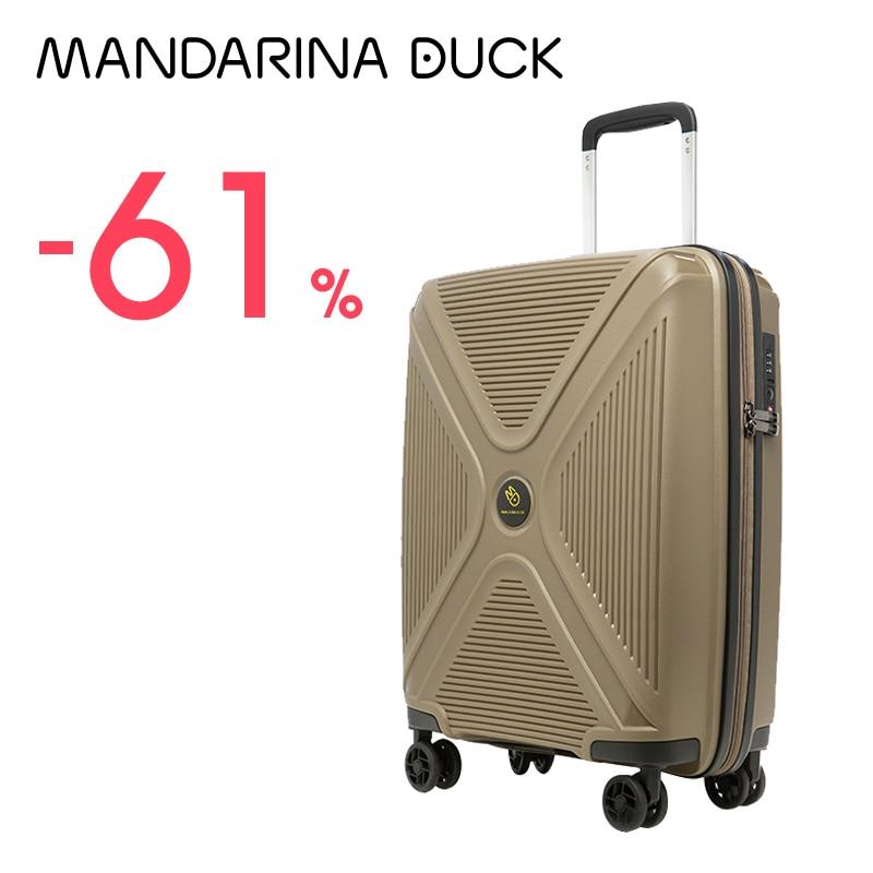 Mandarina ördek akıllı bavul 20 inç haddeleme valiz hafif taşıma çıkrık seyahat TSA kilit kadın erkek bavul