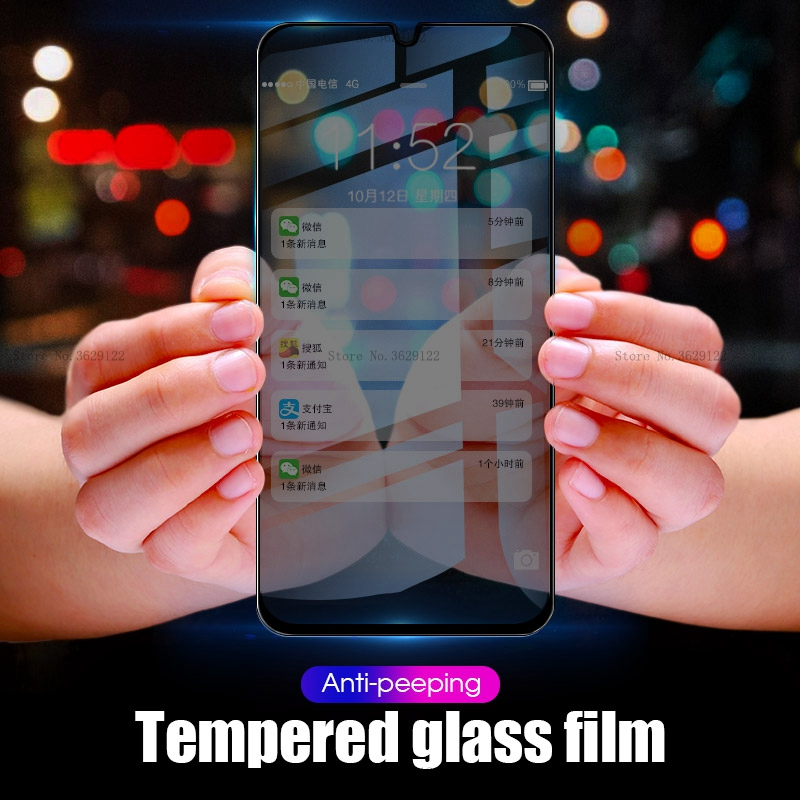 Anti-Spy Peep Tempered <font><b>Glass</b></font> For <font><b>Samsung</b></font> <font><b>Galaxy</b></font> A9 A8 A6 Plus <font><b>J4</b></font> J6 Plus <font><b>2018</b></font> Screen Protector For <font><b>Samsung</b></font> S10e Protective Film image