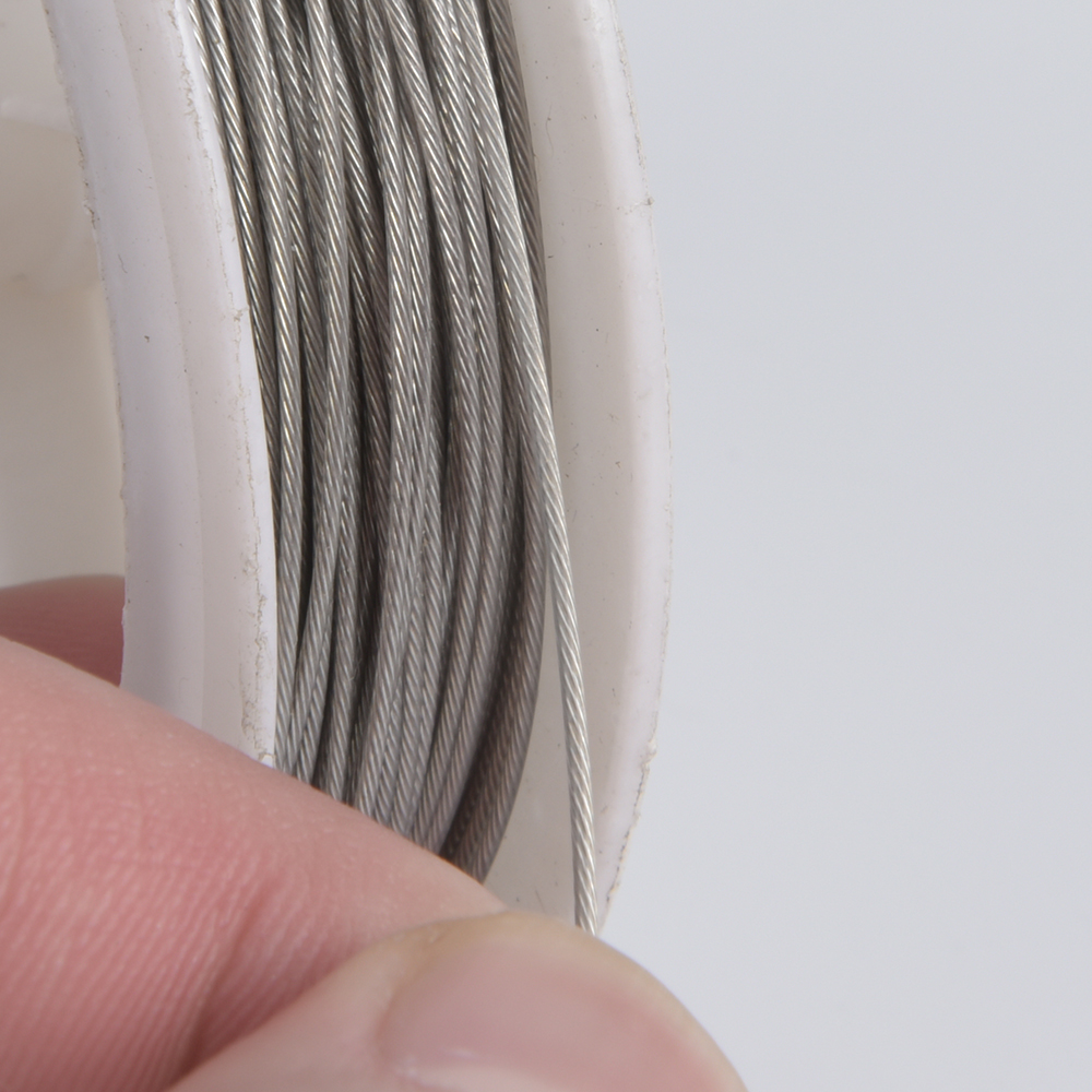 1Roll/Lot 0.3-0.8mm Stainless Steel Tiger Tail Beading Wire For Jewelry Making Finding Accessories