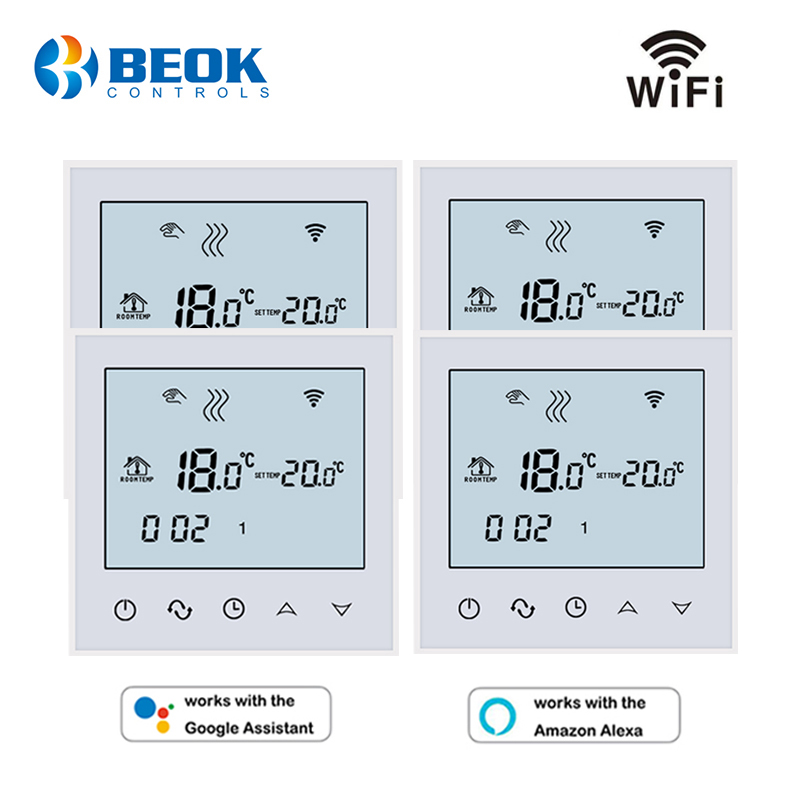 4 Pcs/Pack WiFi Room Thermostat Temperature Controller Warm Floor Temperature Instruments Google Home Alexa Function