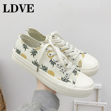 цена на Autumn Women Casual Shoes Women Sneakers Fashion Breathable PU Leather Embroider White Women Shoes Soft Footwears