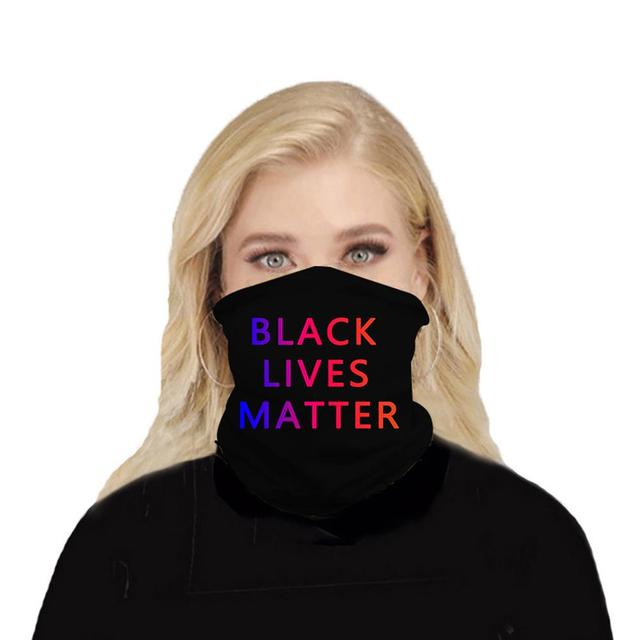 Black Lives Matter Mask Quick-drying Breathable Sport Cycling Skiing Hiking Bandana Scarf Men Women Neck Gaiter Cover Face Scarf 3