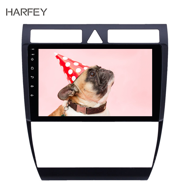 Harfey 2 din OEM Multimedia player Android 8.1 autoradio android GPS car Radio for Audi A6 S6 RS6 1997 2004 WIFI HD Touchscreen