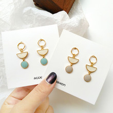 Women earrings geometric circular metal With gold fashion earring long ring Modern decoration wholesale