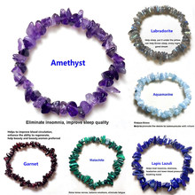 Bracelets en pierre Chakras, cristaux naturels irréguliers, perles puces, bijoux, cristaux jaunes clairs, aigue-marine
