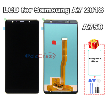 100% tested For SAMSUNG Galaxy A7 2018 A750 A750F LCD Display with Touch Screen Assembly Replacement AAA Quality 100% tested aaa quality for samsung galaxy a5 2015 a500 a500f a500m replacement lcd display with touch screen digitizer assembly