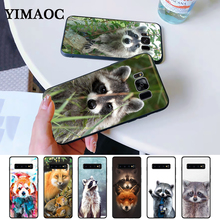 Raccoon red panda fox Silicone Case for Samsung S6 Edge S7 S8 Plus S9 S10 S10e Note 8 9 10 M10 M20 M30