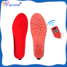 Unisex USB Charging Heated Insoles with Wireless Remote Control Winter Outdoor Sports Warmer Insoles for Foot Heating Insoles