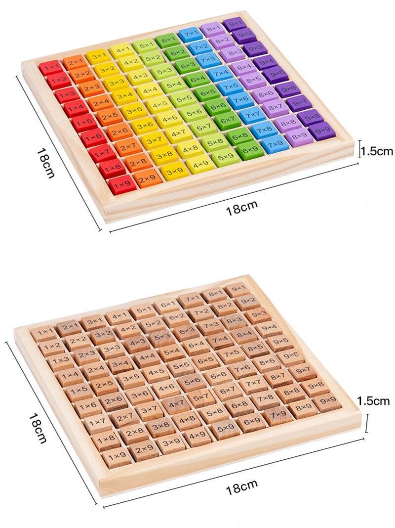 tabuleiro de madeira com material arco iris 99 04