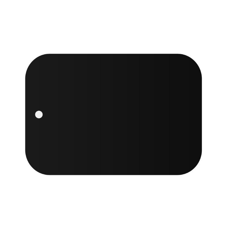 Placa de Metal Magnético Montar Carro Titular do Telefone Ímã Adesivo Adesivo Quadrado Redondo Substituição