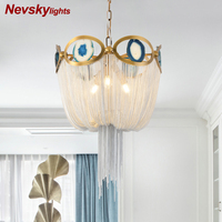 Modern chandelier for living room Silver chandelier for kitchen Lamp with agate stone Metal retro lights Loft decoration lamp