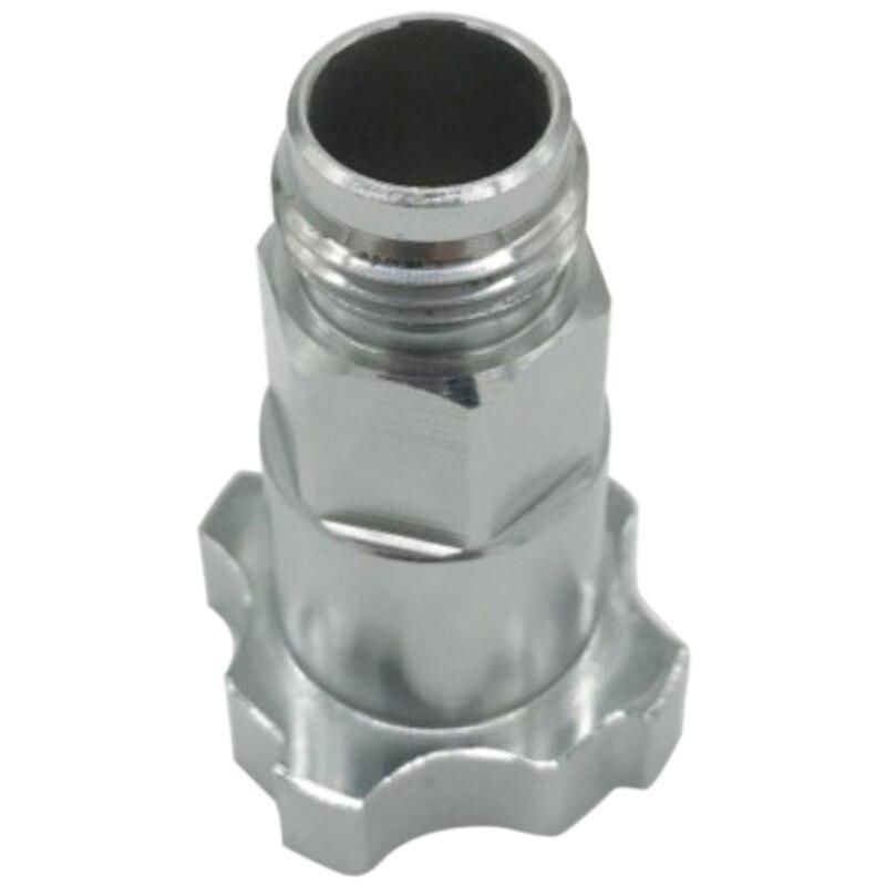 Aletler'ten Sprey Tabancaları'de Sprey Airbrush konektörü PPS sprey kupası adaptör Pot eklemler için 16X1.5 sprey tek kullanımlık ölçüm kabı title=