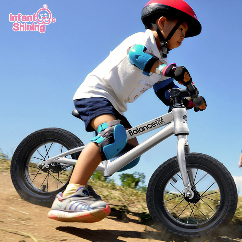 Infant Shining Baby Balance Bike Kid Racing Sliding Bike Professional Kids Bike Metal Scooter Baby Walker Ride On Toys Baby Game
