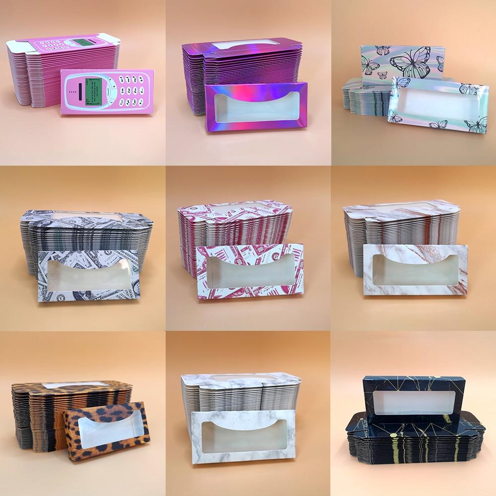 Коробка для упаковки ресниц оптом 100 шт. 3D норковые ресницы объемная пустая коробка 25 мм коробка для норковых ресниц бумажная коробка для на...