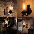 Винтажный деревенский настенный светильник из стекла и настроения  декоративный светильник для спальни (не содержит лампочек)