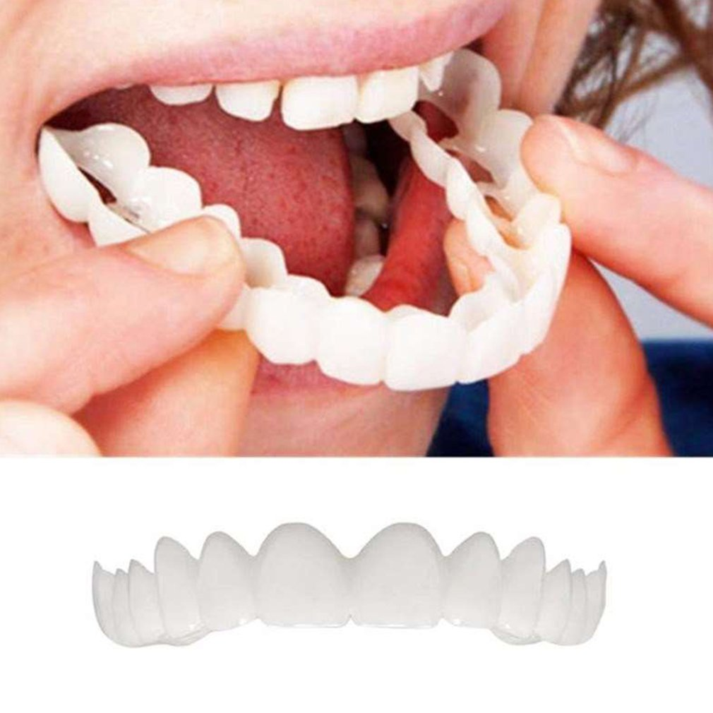 Perfect Smile Snap-On Bracket Upper Teeth Simulation Braces Whitening Set Second Generation Silicone Simulation Teeth Dentures