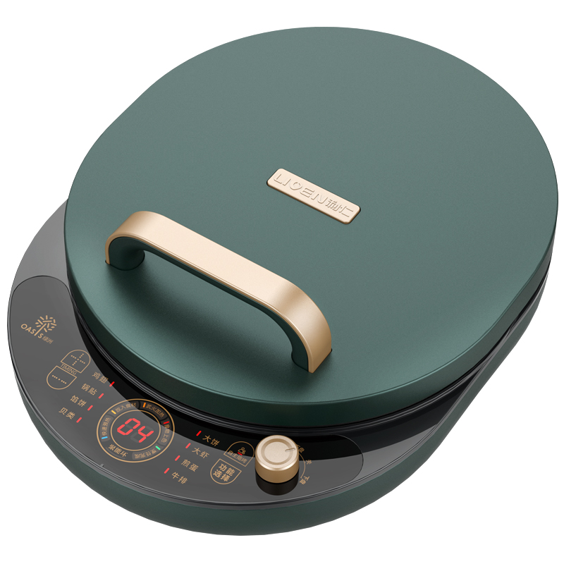 LIVEN <font><b>Electric</b></font> <font><b>Baking</b></font> <font><b>Pan</b></font> Household Double-sided Heating Deepen Hover Automatically Power Off Pancake <font><b>Pan</b></font> Griddle Pizza Machine image