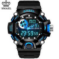 Relojes SMAEL Reloj militar para hombres Reloj Led Digital deportivo para hombre Reloj de pulsera de regalo para hombre Reloj de choque analógico Reloj Masculino Reloj