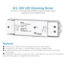 0/1-10V Led Dimmen Driver Pwm Constante Spanning 1CH Dc 36V 24V 12V 0 -10V Dimmer Controller 1 Kanaal 1-10V Signaal Input LV-L