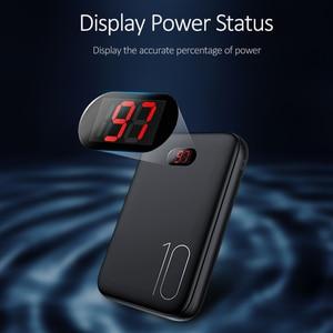 Image 2 - USAMS 전원 은행 LED 디스플레이 미니 Powerbank 외부 배터리 Poverbank 충전 Pover 은행 xiaomi mi 아이폰에 대 한 USB 케이블