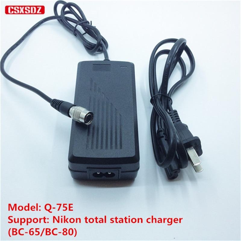 NEW NIKON Q75E charger Q-75E for Nikon BC-65 //BC-80 battery total stations 4-PIN