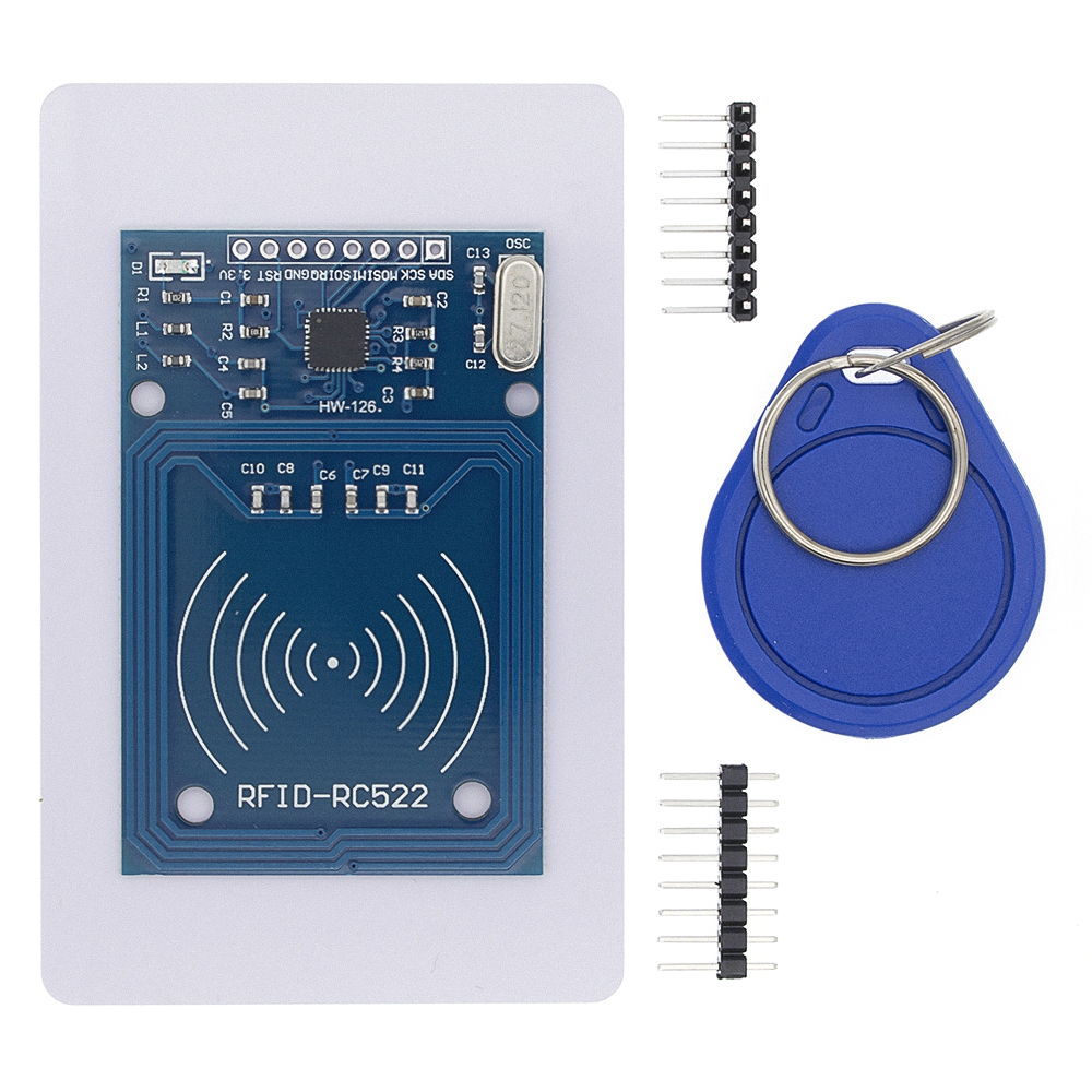 Image 2 - 50pcs TENSTAR ROBOT RFID module RC522 Kits S50 13.56 Mhz 6cm With Tags SPI Write & Read-in Integrated Circuits from Electronic Components & Supplies