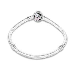 Image 1 - 100% 925 Sterling Zilver Enamel Bloem Charm Ketting Fit Originele Armband Voor Vrouwen Authentieke Diy Sieraden Berloque Gift