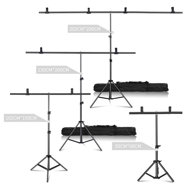 Professional Photography Photo Backdrops T Shape Background Frame Support System Stands With Clamps