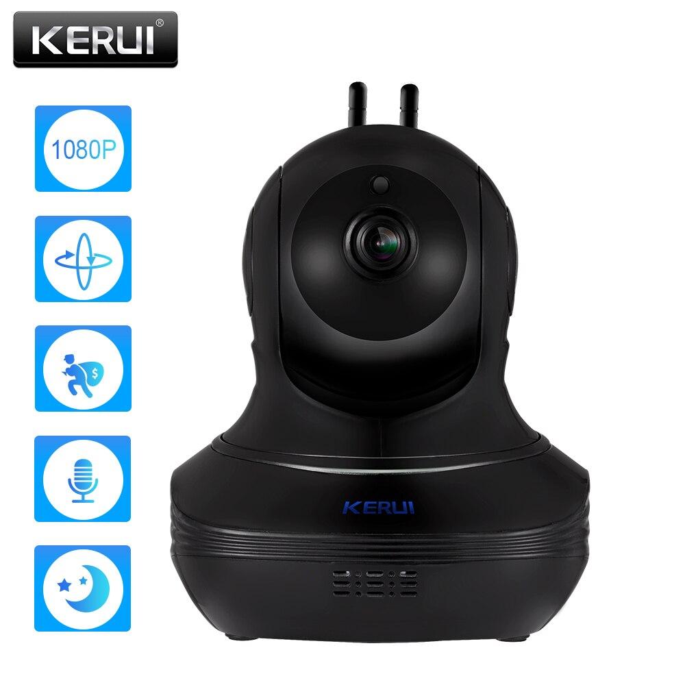 KERUI Full HD 1080P 2MP caméra IP sans fil alarme à domicile caméra de sécurité cambrioleur Surveillance intérieure WiFi caméra Vision nocturne