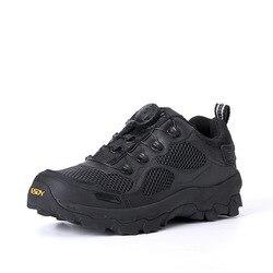 Marka taktyczne buty wojskowe na świeżym powietrzu szybkiego reagowania BOA oddychające buty męskie armii kostki buty bezpieczeństwa buty do wspinaczki górskiej|Buty ochronne|Bezpieczeństwo i ochrona -