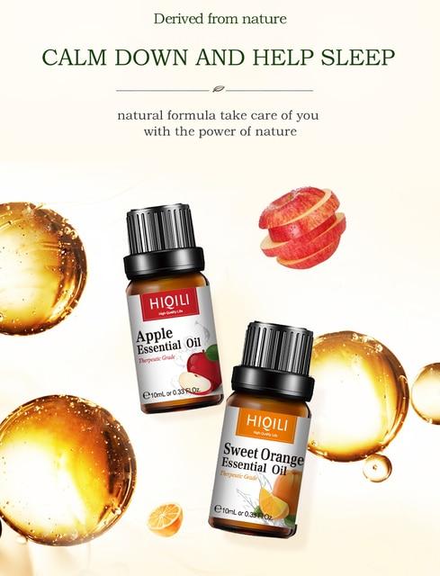 HIQILI Watermelon Fragrance Oil 10ML Diffuser Aroma Essential Oil Apple Passion Fruit Coconut Mango Watermelon Cherry Lemon Oil 3