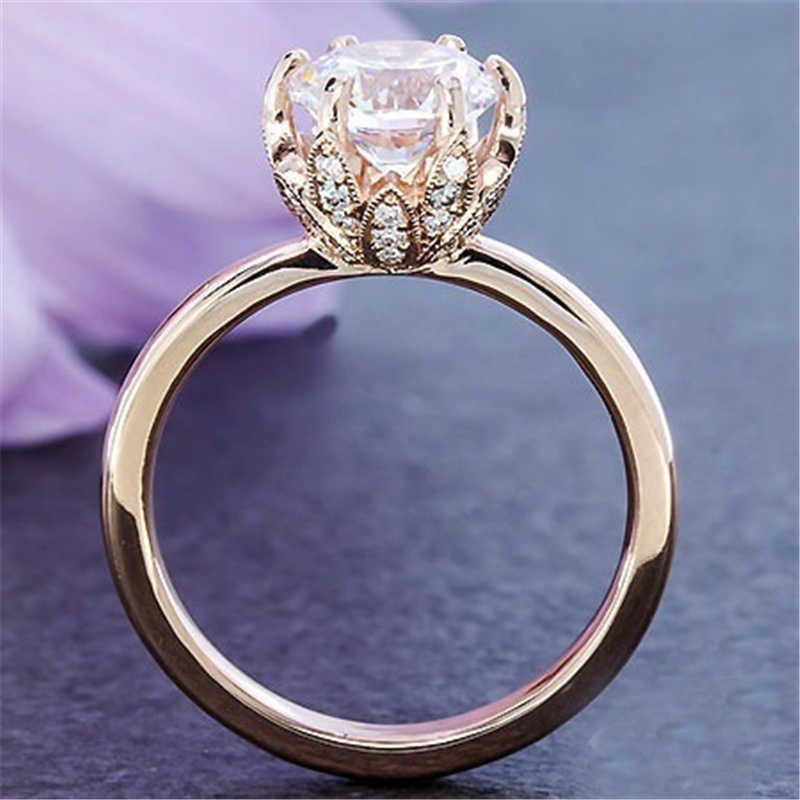 Kehilangan Uang 90% Off! Fine Perhiasan Asli Natural 925 Perak Cincin Warna 1ct CZ Cincin untuk Wanita Topaz Gemstone Perhiasan Cincin