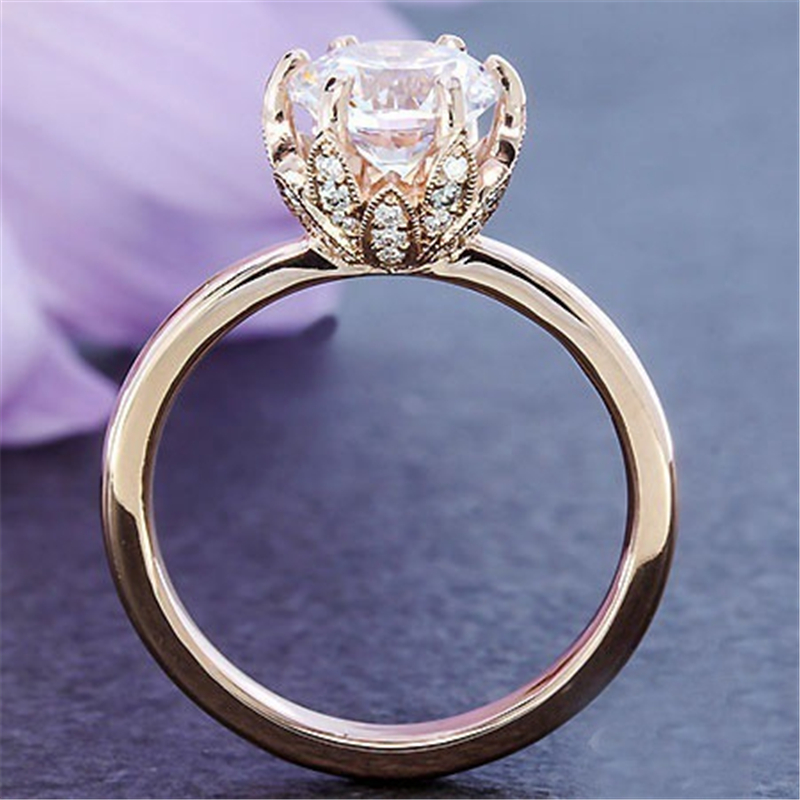 Lose Money 90% OFF! Fine Jewelry Original Natural 925 Silver Rings 1ct CZ Wedding Rings For Women Topaz Gemstone Jewelry Rings