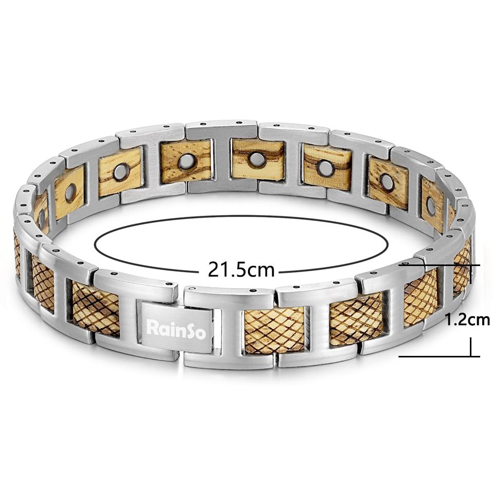 H315cfb1c02e64c8b83903f756b07969cL - Zebrawood Magnetic Stainless Steel Bracelet