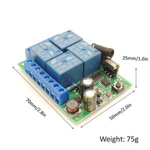Image 4 - AC 85V~220V 10Amp 2200W 4CH 433MHz rf Remote Control Switch Wireless Relay Receiver Controller for Garage\ Door\  LED\ Bulb