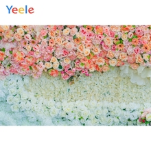 Yeele Wedding Ceremony 3D Flowers Wall Party Decors Photography Backdrops Personalized Photographic Backgrounds For Photo Studio