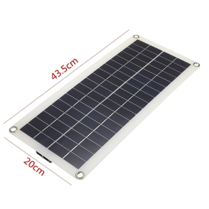 Image 5 - 12V 25W Dual USB Solar Panel with Car Charger Output 10/20/30/40/50A USB Solar Charger Controller for Outdoor LED Light Camping