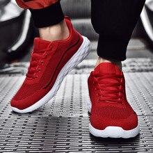 Обувь из дышащего сетчатого материала Для мужчин женские на платформе большого Размеры летать вязать Дышащие Ультра светильник для прогулок либо занятий бегом обувь осенние кроссовки