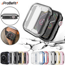 ProBefit 360 Slim Watch Cover for Apple Watch Case 4 3 2 1 42MM 38MM Soft Clear TPU Screen Protector for iWatch 4 3 44MM 40MM(China)
