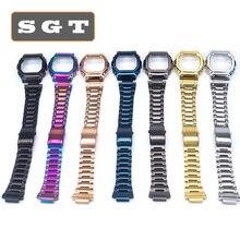 Pulseiras de relógio de aço inoxidável dw5600 dw5610 gw5600 série pulseira pulseira de relógio apto para relógio atacado