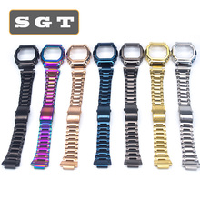 Stainless Steel Watch Bands DW5600 DW5610 GW5600 Series Watch Strap Watchbands Bracelet Fit For Watch Wholesale