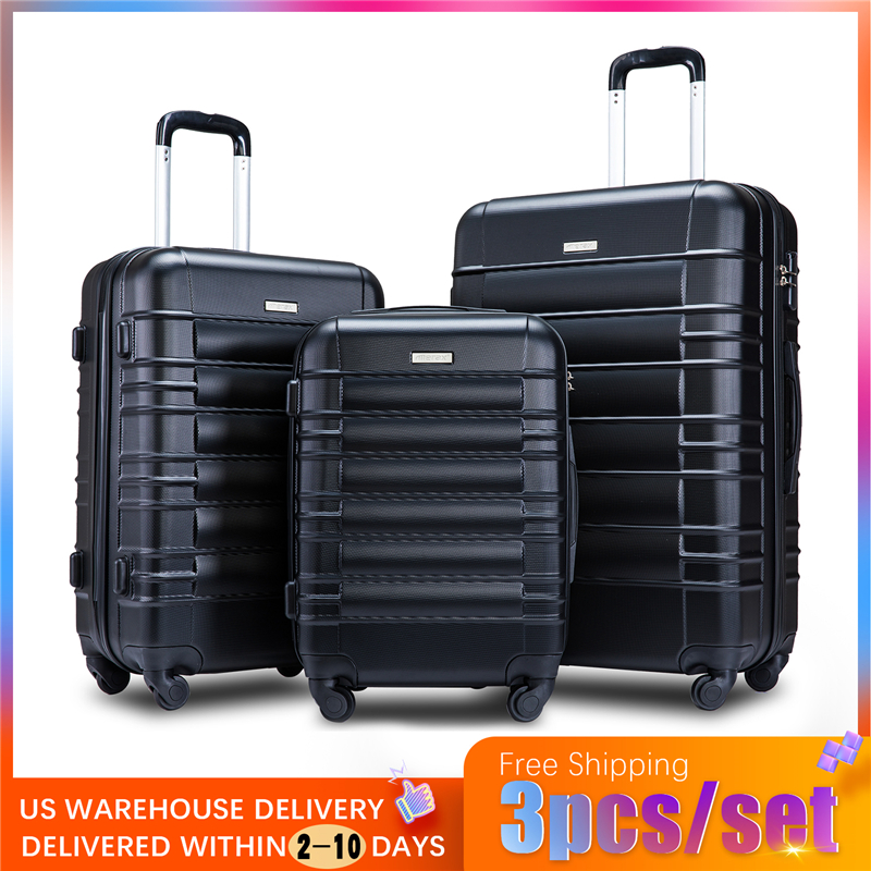 3 Piece Set Travel Tolley Case Luggage Suitcase Spinner Mute Wheels Rolling Luggage Women Men 20 24 28inch