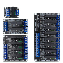 5V 1 2 4 8 Channel SSR G3MB-202P Solid State Relay Module 240V 2A 1/2/4/8 Relay Module Output with Resistive Fuse For Arduino