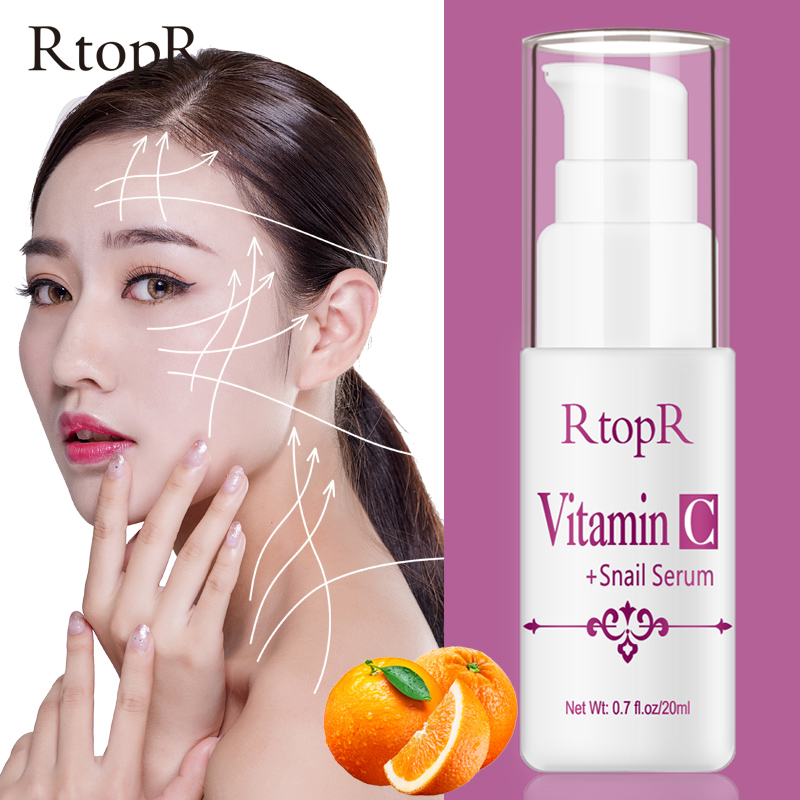 VitaminC Snail Serum Rejuvenation Anti Wrinkle Firming Bright Skin Serum For Face Ance Treatment Snail VC Collagen Repair Serum-in Serum from Beauty & Health