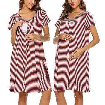 Womens Striped Maternity Dresses